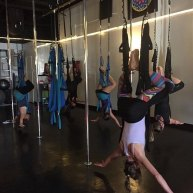 aerial yoga hang