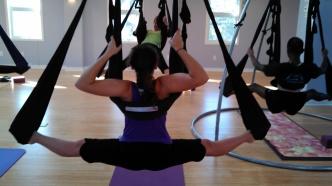 aerial yoga splits