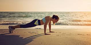 beach pushups